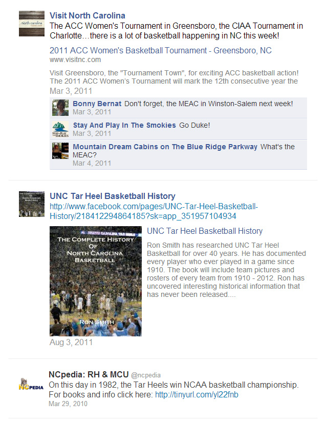 Social media archive search results for basketball