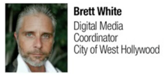 Photo of Brett White, Digital Media Coordinator for City of West Hollywood