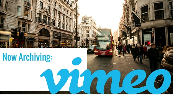 ArchiveSocial Supports Vimeo