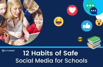 12 Habits of Safe Social Media for Schools cover