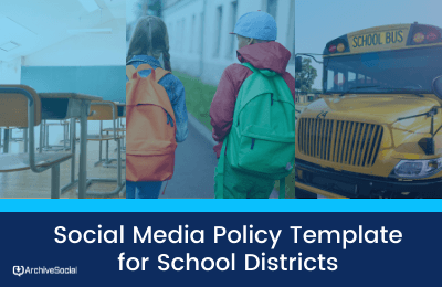 School District social media policy template cover