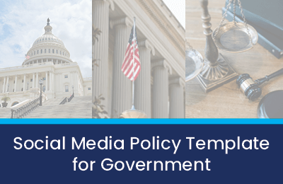 social media policy template for government agencies cover